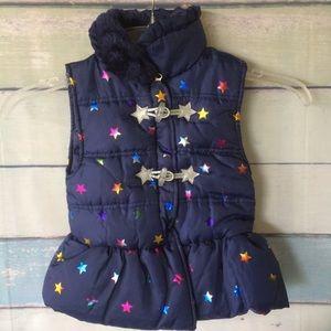 Girls Little Lass Navy vest